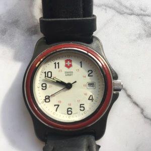Swiss Army Watch Red bezel